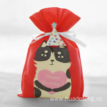 Red Non Woven Birthday Pussy Gift Packaging Bags