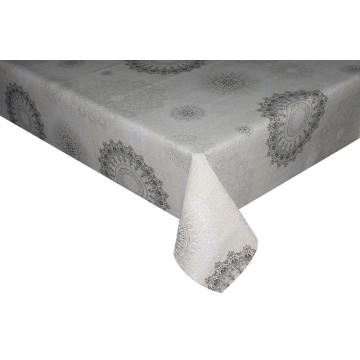Elegant Plastic Tablecloth with Non woven backing