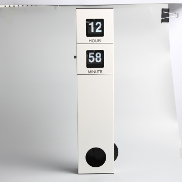 White Long Pendulum Hanging Flip Clock