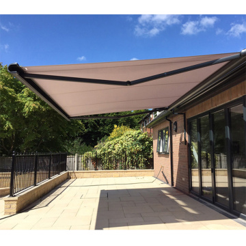 collapsible manual retractable awning