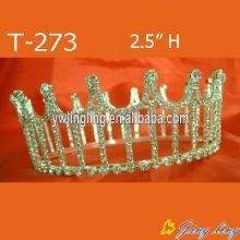 Wholesale Small Cheap Rhinestone Round King Crowns