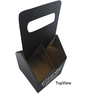 Black Corrugated Paper Tea Paper Box