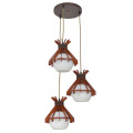 Simple retro wood vintage chandelier frames Pendant lamp