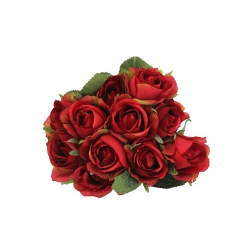 Artificial rose bouquet synthetic silk rose flower