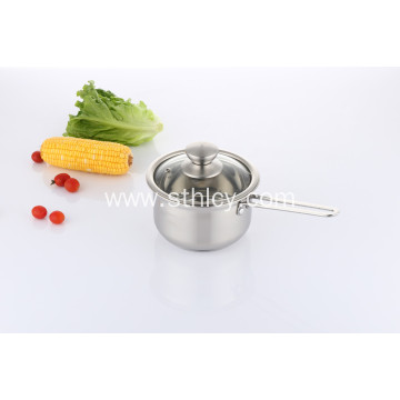 Stainless Steel Milk Boiling Pot with Lid