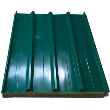 factory price corrugated rockwool insulation sandwich panel
