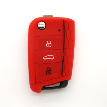Popular Design for for Supply Volkswagen Silicone Key Cover, VW Silicone Key Fob Cover, VW Silicone Key Case from China Manufacturer Silicon protaction car key shell for VW supply to Italy Manufacturer