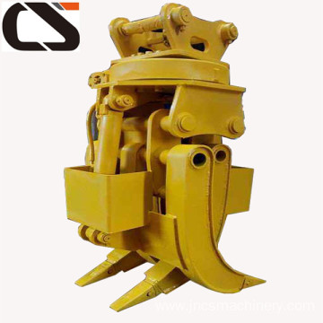 wood stone grapple for the mini excavator