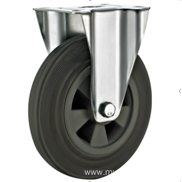 80mm industrial rubber rigird    casters without brakes