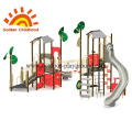 Red Outdoor Playground Equipment For Fun