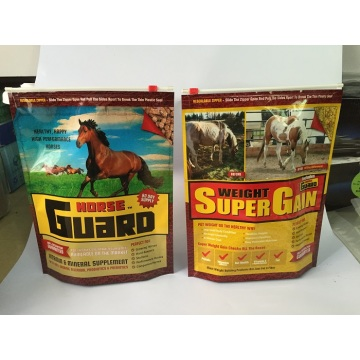 Horse Food Packaging Bag With Slider Zipper