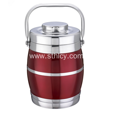 Double Stainless Steel Insulated Food Container With Handle