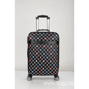 Super Purchasing for for Fashion Leather Trolley Luggage 360 degree wheels Printed EVA luggage export to Morocco Exporter