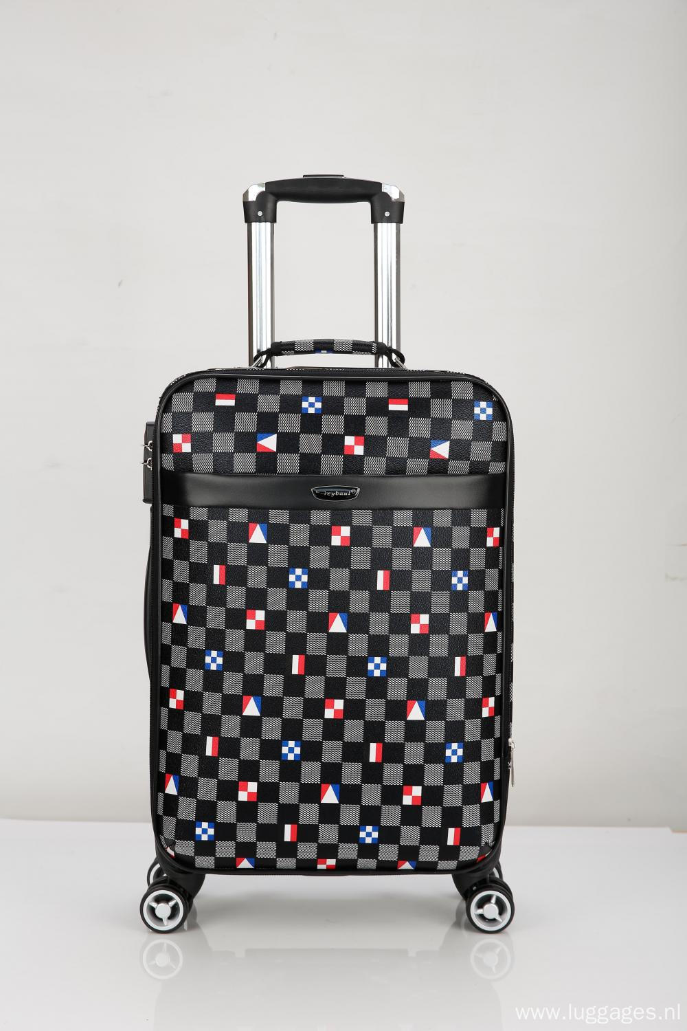 360 degree wheels Printed EVA luggage