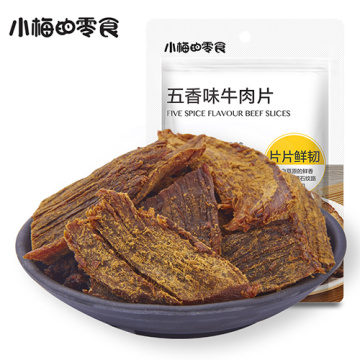 Five spice flavour beef slices