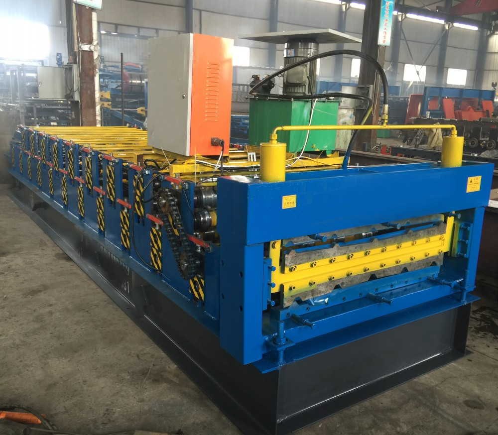Double Layer Trapezoidal Panel Roll Forming Machine