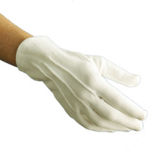 Military Parade White Nylon Gloves