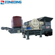 Flexible Structure Mobile Jaw Crusher Plant