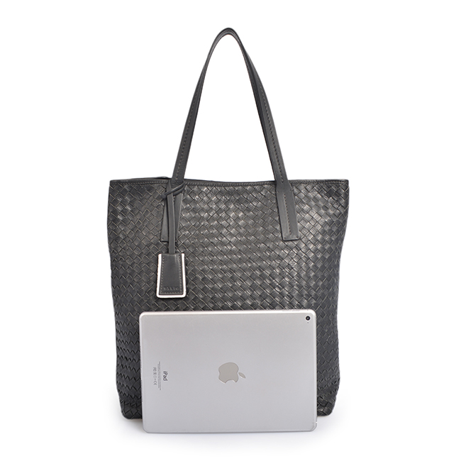 u Leather Weave Handbag Purse Bag with Removable Pouch