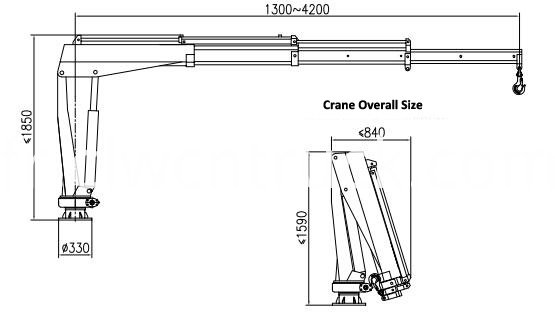 small crane truck diagram 1