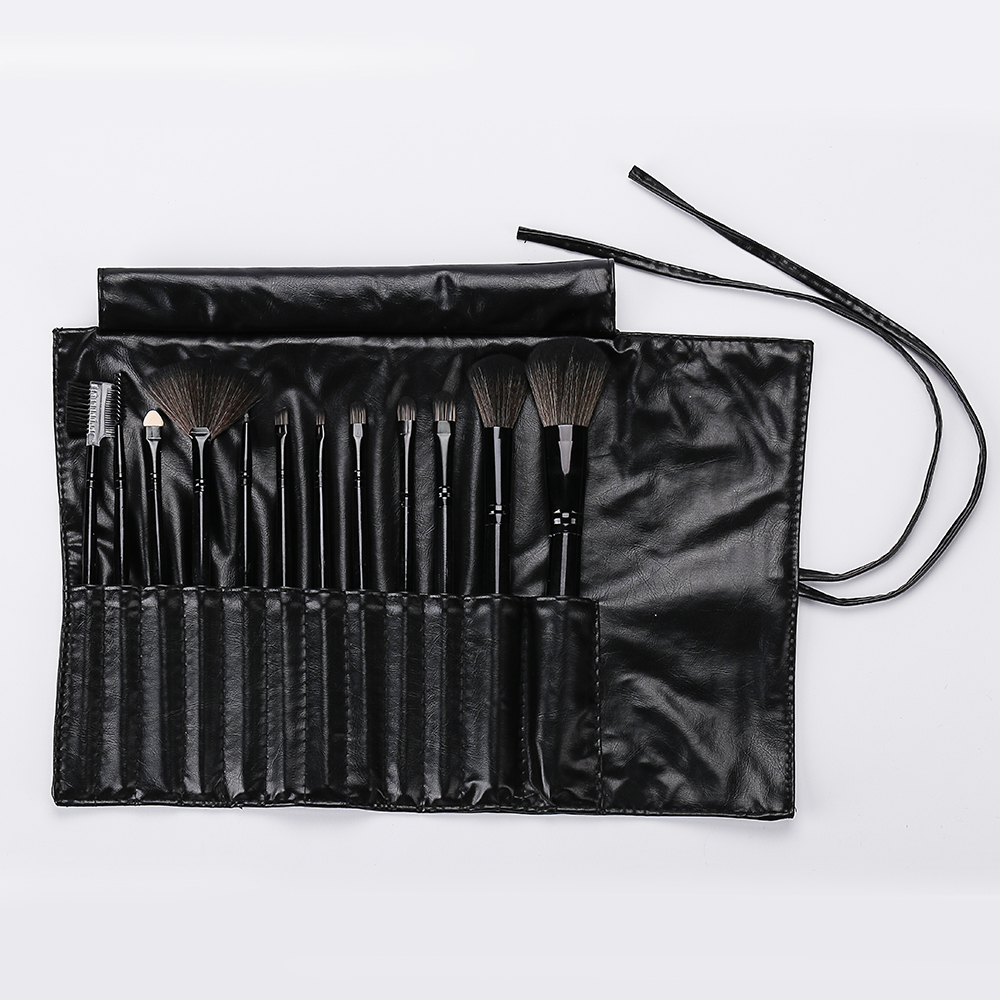 Black Pu Makeup Brush Set