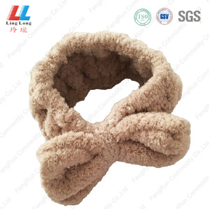 Bowknot durable washing headband microfiber