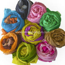 Cashmere worsted ultra-thin gradient colorful scarf