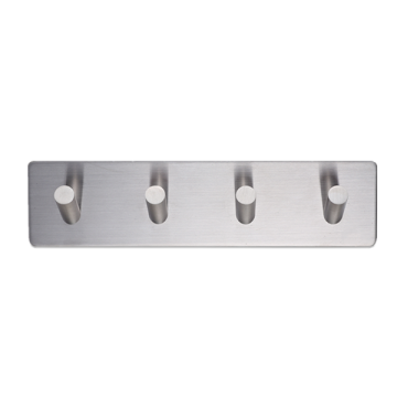 Adhesive Hooks Stainless Steel 4-Hook