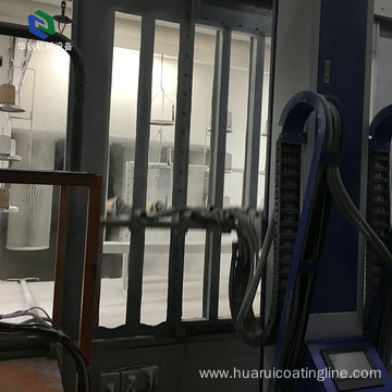 Efficient dustless automatic spray booth