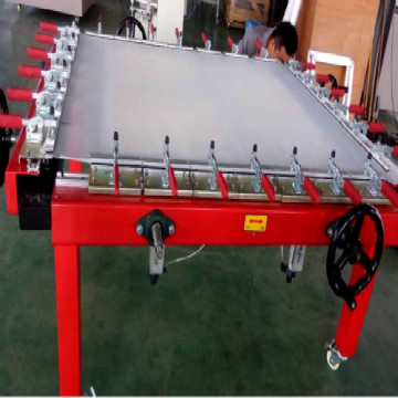 Automatic stretching screen machine