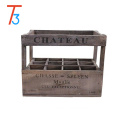 vintage style crate - 12 bottle holder wooden wine box