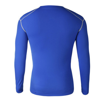 Hot sale Blank plain blue activewear fitness tight shirts