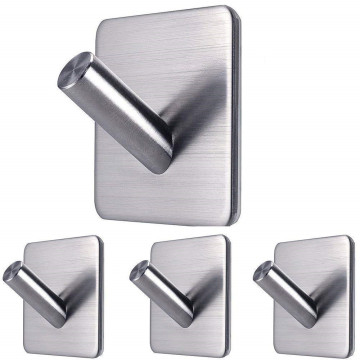 Adhesive Wall Door Back Single Hook
