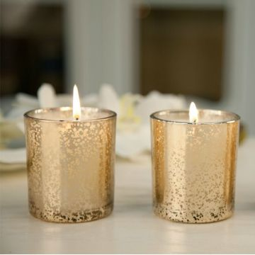 Good Quality Luxury Gold Glass Jar Fragrance Candle