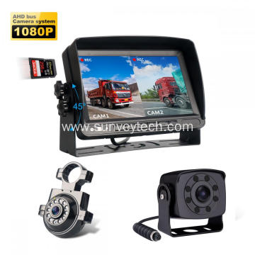 1080P Side Rear View Camera Monitor Kit