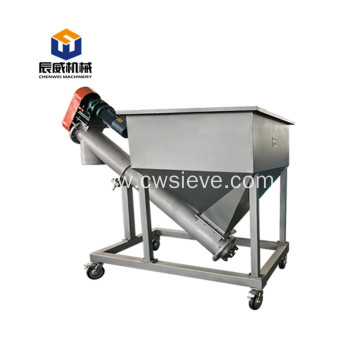 Bulk bag discharge flexible screw conveyor