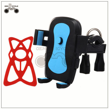 360 degree rotating bike phone holder bicycle phone clip equipped with silicone net