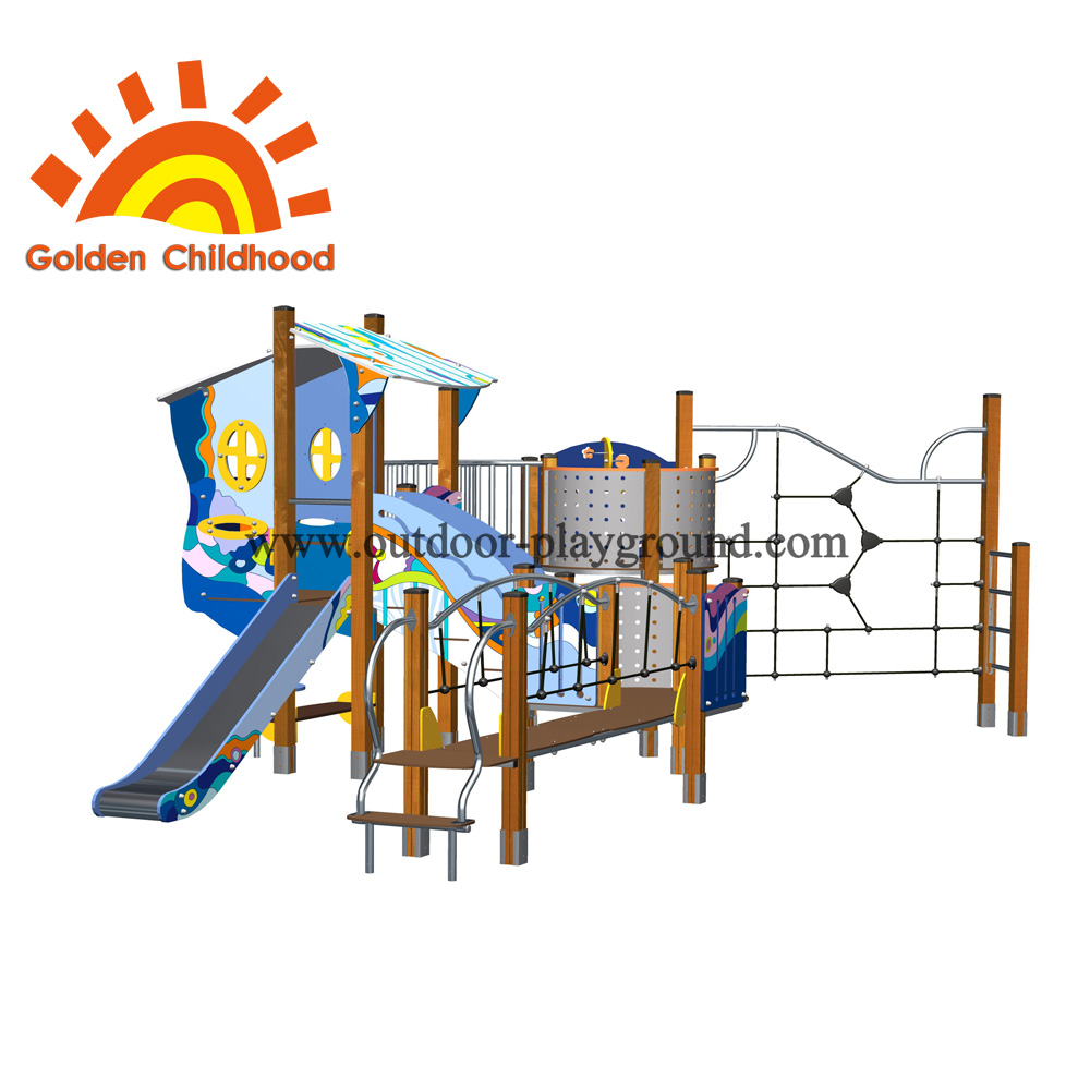 Climber Playhouse Backyard Outdoor Playground Facility For Children