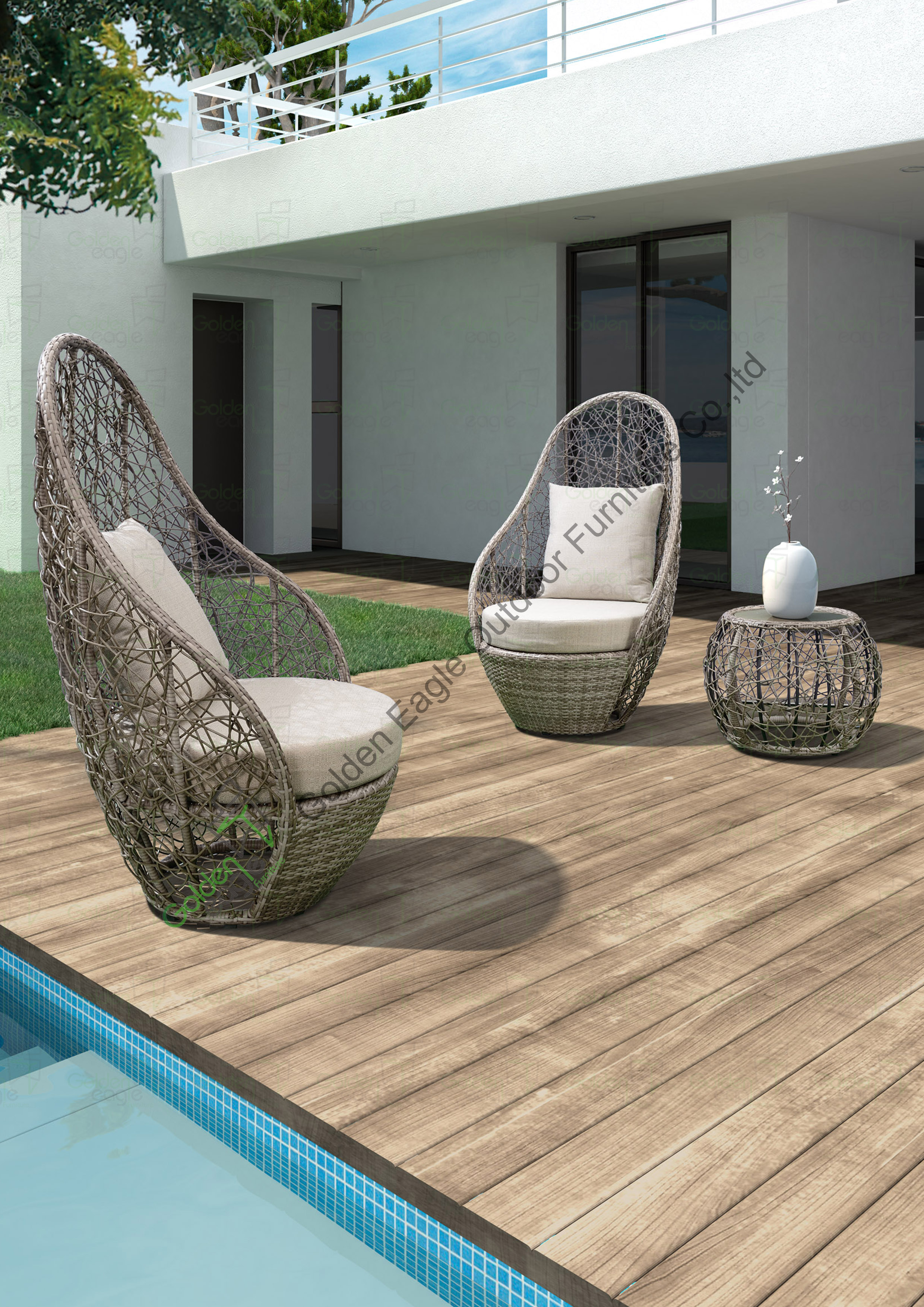 China Synthetic Rattan Outdoor Furniture Sofa Sets Manufacturers