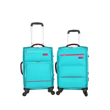 Universal wheels fabric travel EVA  trolley luggage