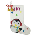 Christmas penguin pattern stocking