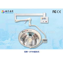 Wall mounted halogen surgical light