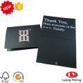 Black thanks invitation card printing