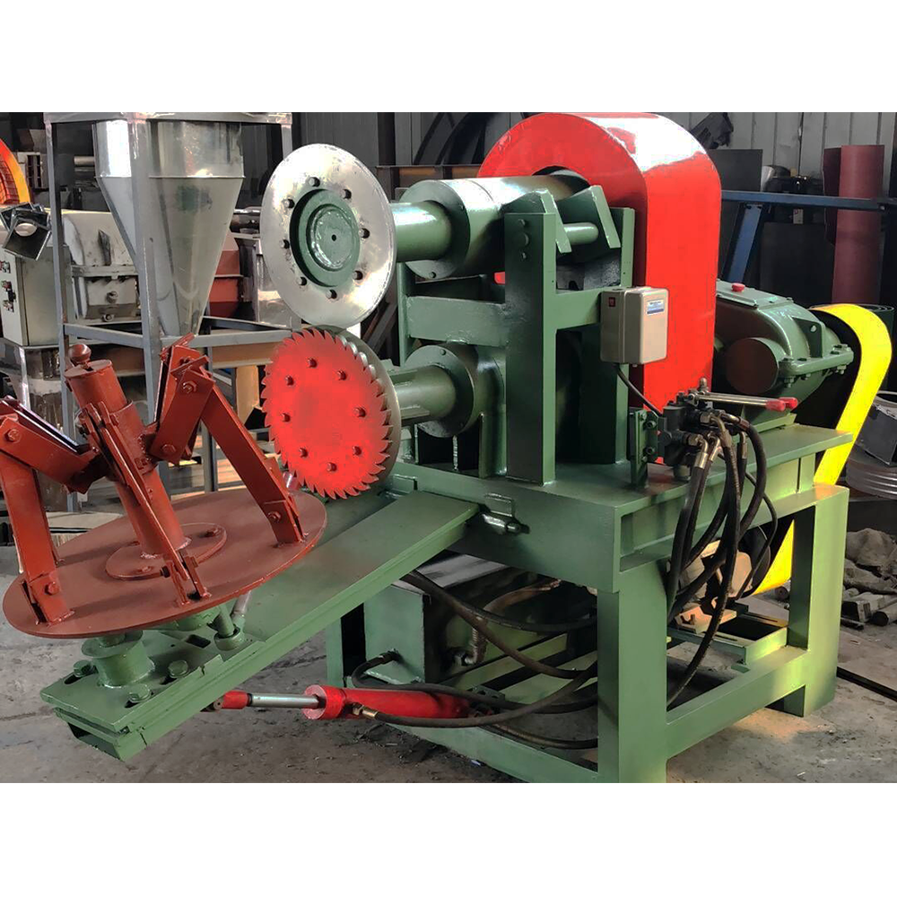 Double-side tyre cutting machine (8)