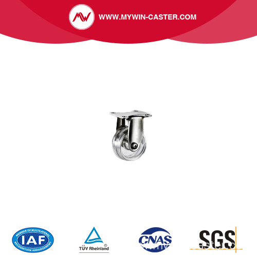 50mm Rigid Transparent Stainless Steel Caster for food equipment