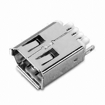1394 6P Receptacle  Straight Solder Type
