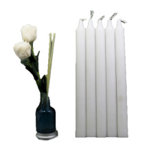 unscented white candles long burning pillar candles