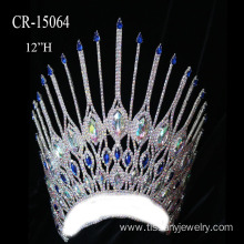 "Customized for Angel Wing Shape Pageant Crown 12"" Beauty Queen Crown supply to Mozambique Factory"
