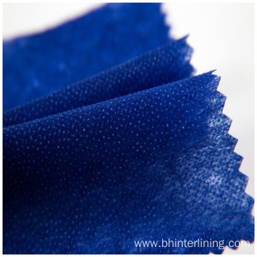 100% polyester colorful  fusible paper interlining