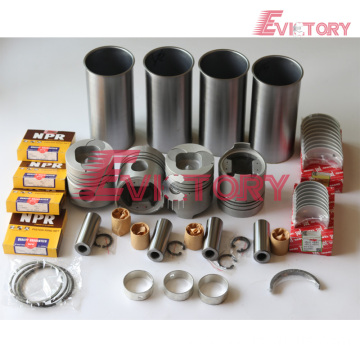excavator 4M40T engine gasket bearing piston ring liner